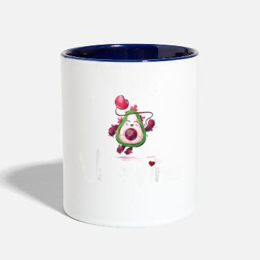 Avocado Is My Valentine Valentines Day Boys Girls - Two-Tone Mug