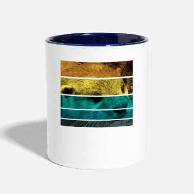 Summer Retro Otter - Two-Tone Mug