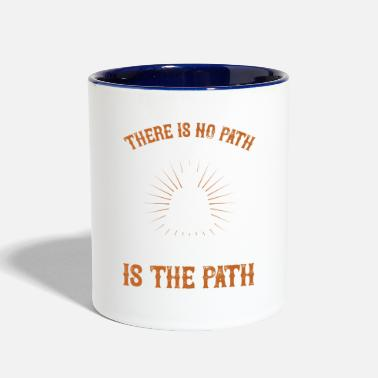 Arttowear Motivation Quote - Happiness Is The Path - Two-Tone Mug