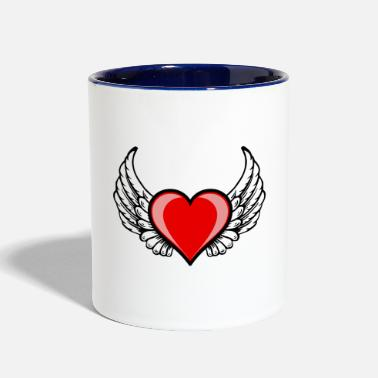 wing'd heart - Two-Tone Mug