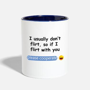 Flirting Flirt Shirt - Two-Tone Mug