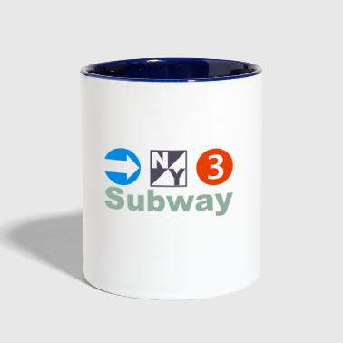 New York Subway - Contrast Coffee Mug