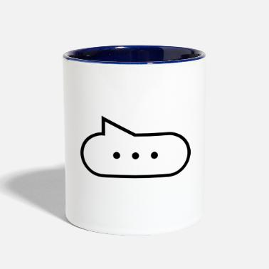 Stupid Blab Speech bubble with points - Two-Tone Mug