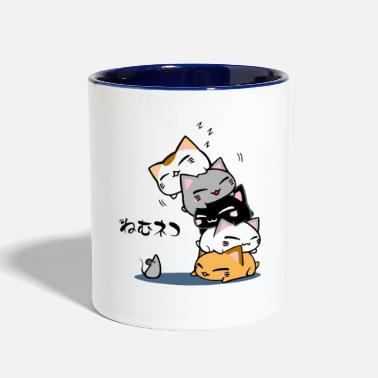 Cats And Dogs Collection Neko Uh oh Cute Cat - Two-Tone Mug