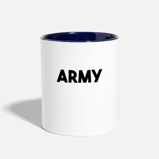 Reserve Mugs & Drinkware - Army - Two-Tone Mug white/cobalt blue