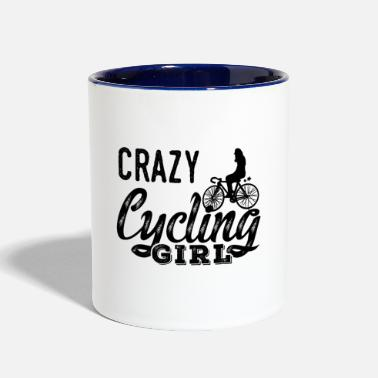 Awesome Cycling Crazy Cycling Girl - Two-Tone Mug