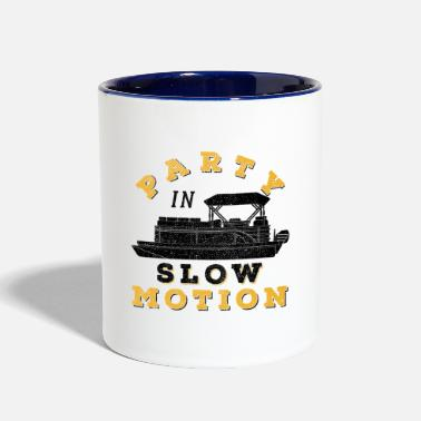 Pontoon Captain Boat Gift - Two-Tone Mug