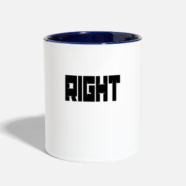 Right Right - Contrast Coffee Mug