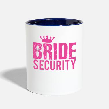 Bride Best Bride Security T-shirt Bridal Party - Two-Tone Mug