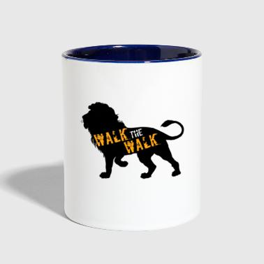 Walking WALK the WALK - Contrast Coffee Mug