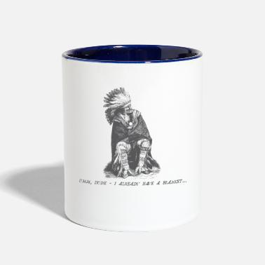Native American Vintage Fly (Native American Sans Blankets) - Two-Tone Mug