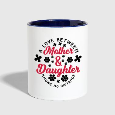 Knows No Distance Love Between Mother and Daughter knows no Distance - Contrast Coffee Mug