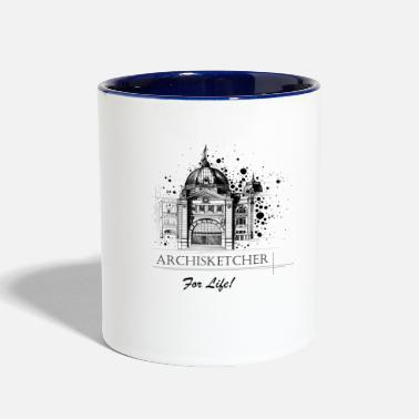 Archisketcher for Life! by Jack L Barton - Contrast Coffee Mug