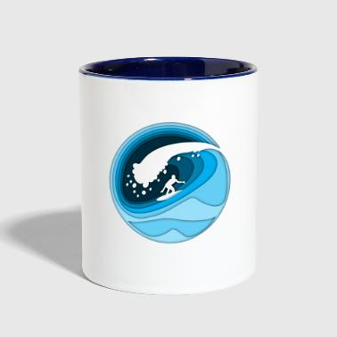 Abstract surfing - Contrast Coffee Mug