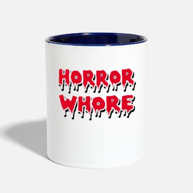 Whore HORROR WHORE - Contrast Coffee Mug