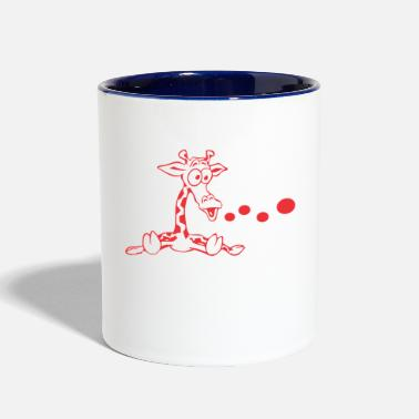 Vector girafe vector - Contrast Coffee Mug