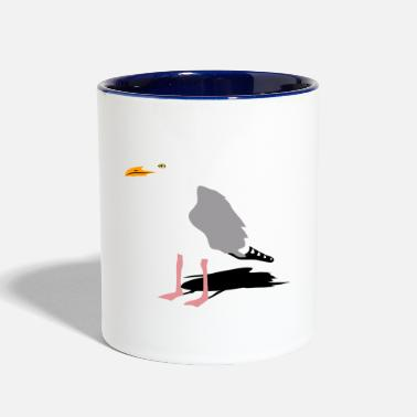 Sea Gull sea gull seagull harbour bird beach sailing - Contrast Coffee Mug