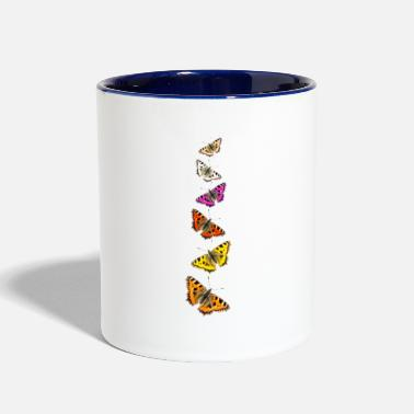Collage Butterfly Collage - Two-Tone Mug