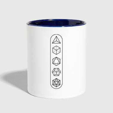 platonic-solids - Contrast Coffee Mug