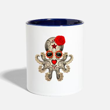 Skull Red Sugar Skull Octopus - Contrast Coffee Mug
