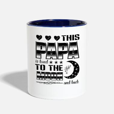 Moon This Papa Is Loved To The Moon And Back Mug - Contrast Coffee Mug