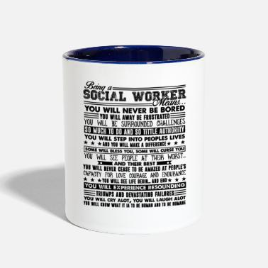 Social Being A Social Worker Mug - Contrast Coffee Mug