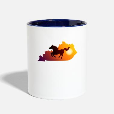 Gallop Horse Gallop in Sunset - Contrast Coffee Mug