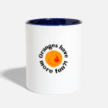 Orange Oranges - Contrast Coffee Mug