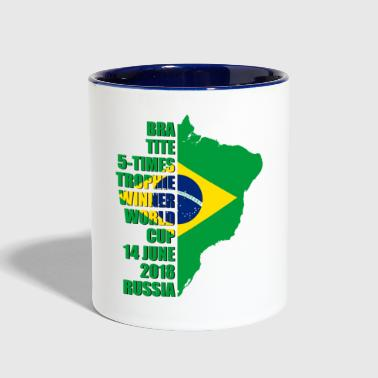 BRAZIL World Cup T-shirt & Gift - Contrast Coffee Mug