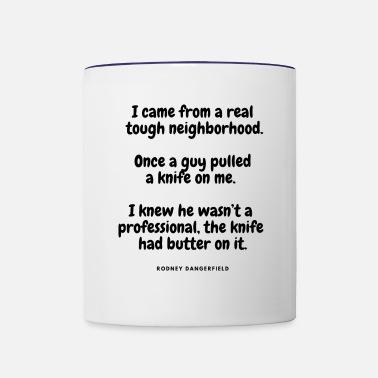 Knife Funny Quotes Cool Sayings Humorous Original Enamel Mug