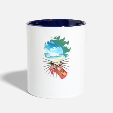 Hero All might MHA Fight - Two-Tone Mug