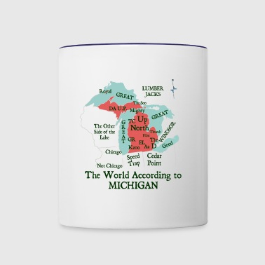 The World According To Michigan Shirt Clothing Tee - Contrast Coffee Mug