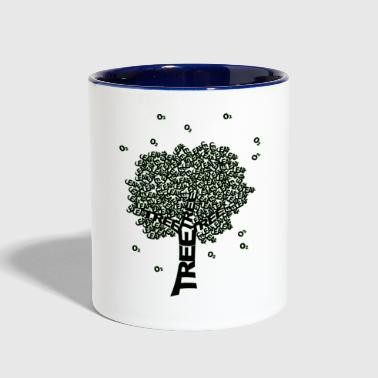 tree - Contrast Coffee Mug