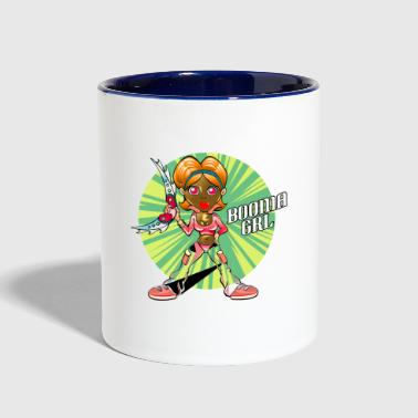 Boomerang Girl cartoon character - Contrast Coffee Mug
