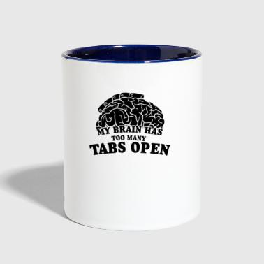 My Brain Too Many Tabs Op - Contrast Coffee Mug