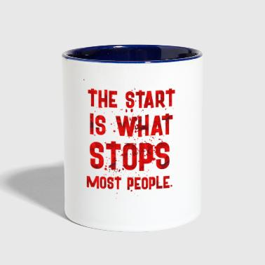 Start THE START IS - Contrast Coffee Mug