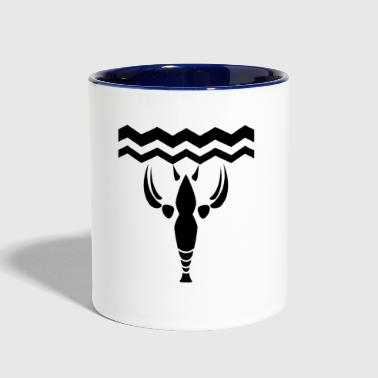 lobster crayfish - Contrast Coffee Mug