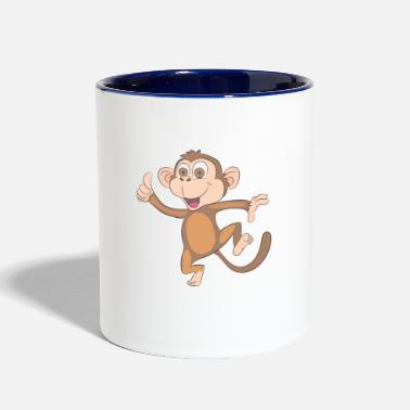 Happy Monkey Design - Two-Tone Mug