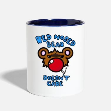 Red Nose Red Nosed Bear - Contrast Coffee Mug