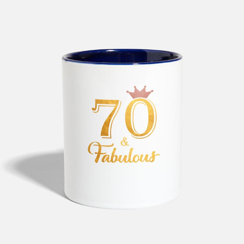 70 Fabulous Queen Shirt 70th Birthday Gifts Two Tone Mug Spreadshirt