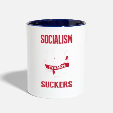 Politics Socialism is the Promise of Tyrants - Contrast Coffee Mug