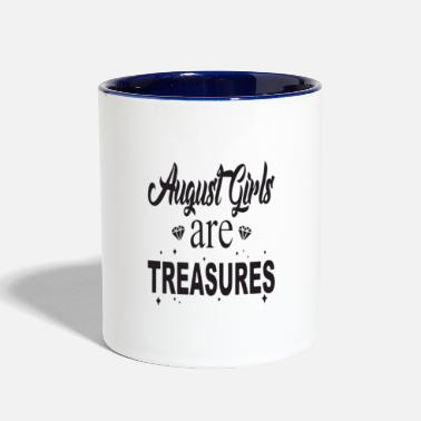 August august girls are treasures t - Contrast Coffee Mug