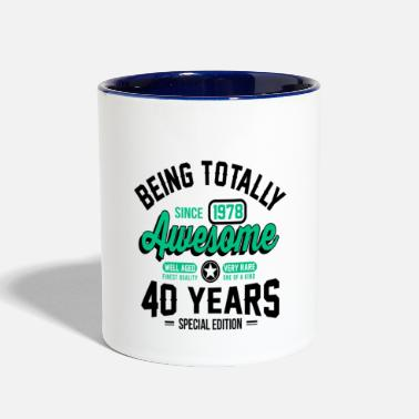 40 Years 40 Years Of Being Awesome - Contrast Coffee Mug