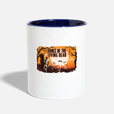 Dancing Skeleton - Two-Tone Mug