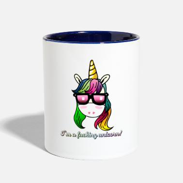 Unicorn Im a fucking unicorn - Two-Tone Mug