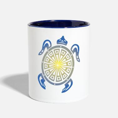 Tribal Sea Turtle - Two-Tone Mug