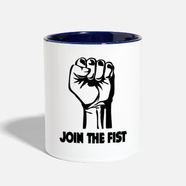 Join Join The Fist - Two-Tone Mug