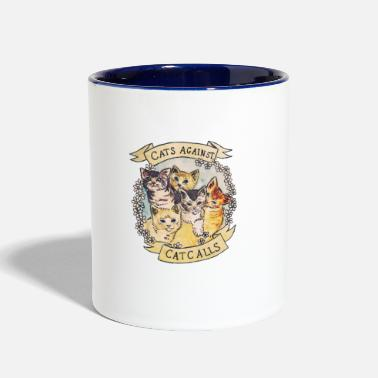 Against CATS AGAINST - Contrast Coffee Mug