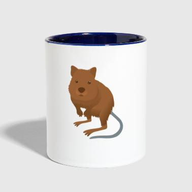 Quokka cute mammal from australian rottnest PERTH - Contrast Coffee Mug