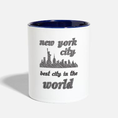 City New york city is the best city in the world sIMPLE - Contrast Coffee Mug